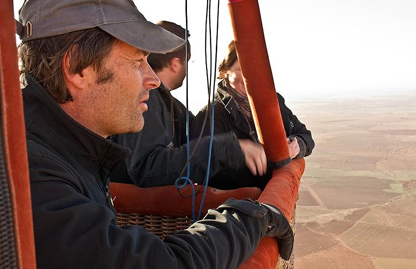 Michel Ries en montgolfière à Marrakech, Maroc