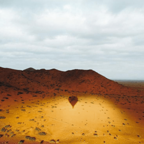 Ombre projetée lors d'un vol en ballon Maroc Montgolfière - Hot Air Balloon Marrakesh shadow during flight
